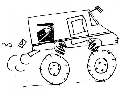 Carro Llantas Grandes Para Pintar Y Colorear Colorear Dibujos