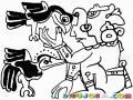 Dibujo Maya Para Pintar Y Colorear
