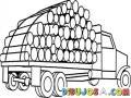 Camion De Troncos De Madera Para Pintar Y Colorear