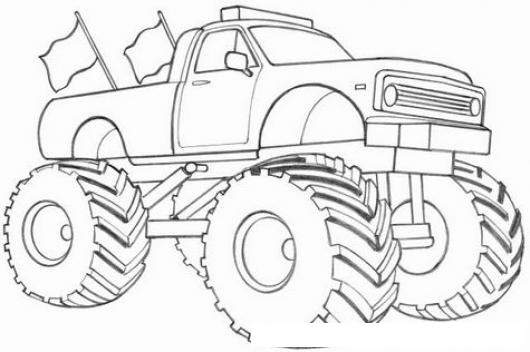 Carro Monstruo O Monster Truck Para Pintar Y Colorear | COLOREAR ...