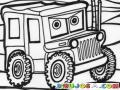 Jeep De Carro Cars Para Pintar Y Colorear