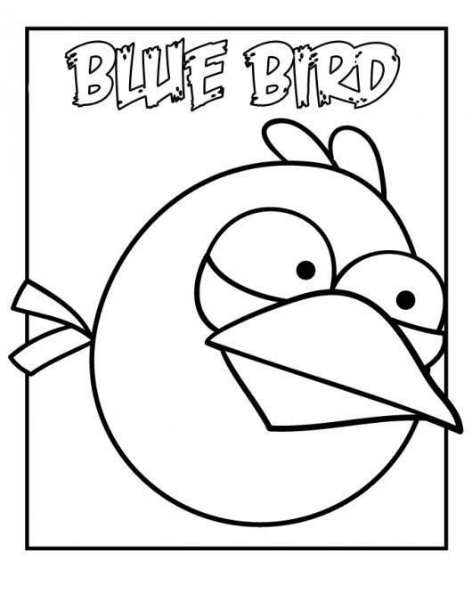 Pajaro Azul De Angry Birds Para Pintar Y Colorear   COLOREAR DIBUJOS ...