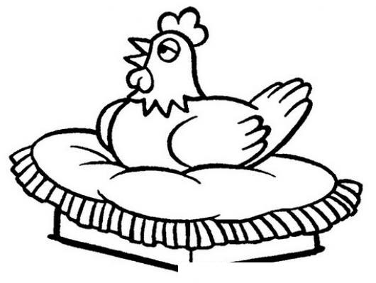Dibujo De Gallina Empollando Huevos Para Pintar Y Colorear