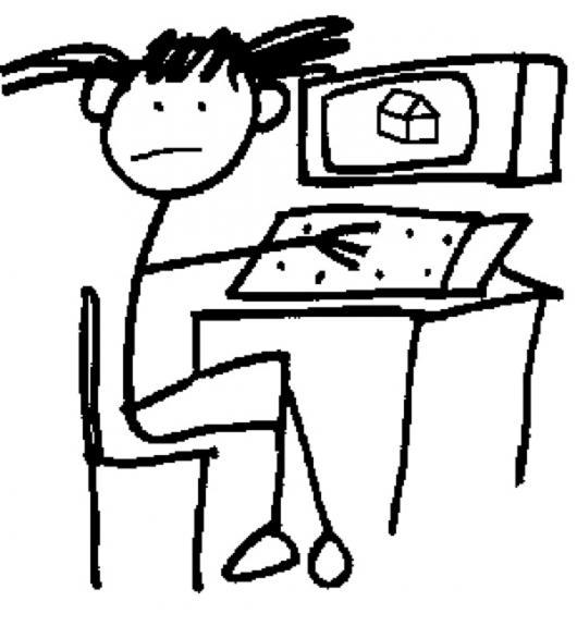 Dibujo De Nina En Computadora Para Pintar Y Colorear   COLOREAR ...