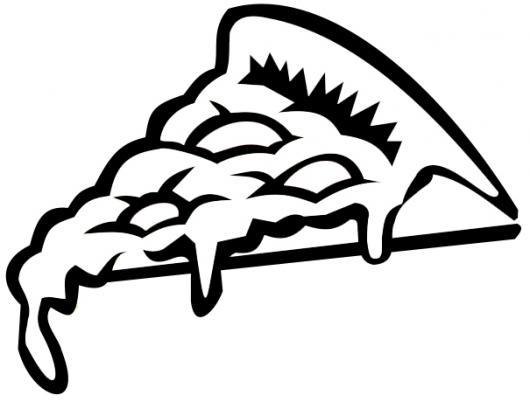 Colorear un pedazo de pizza  COLOREAR COMIDA  dibujo de un