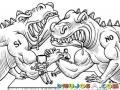 Pulso Entre Dinosaurios Para Pintar Y Colorear Juego De Vencidas Entre Si Y No