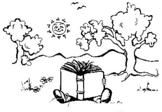 Dibujos Animados De Niños Leyendo Libros Para Colorear - Get Yasabe