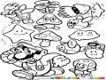 Dibujos Para Recortar Y Pintar Elementos De Super Mario Bros