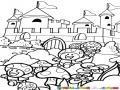 El Castillo De Mario Bros Para Pintar Y Colorear