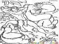 Dibujo De Tarzan Con Los Simios Para Pintar Y Colorear
