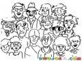 Dibujo De Mucha Gente Para Pintar Y Colorear