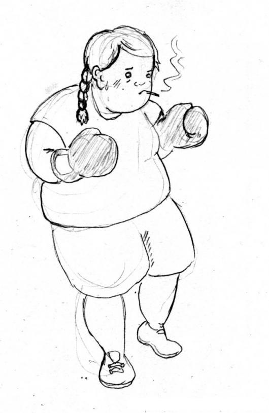 Gordita Boxeadora Dibujo De Nina Gorda Con Guantes De Box Para