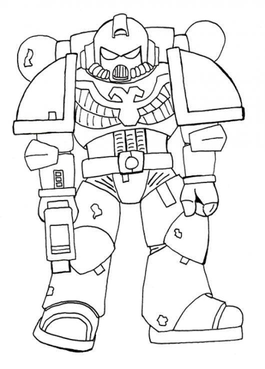 Robot Militar Para Pintar Y Colorear Colorear Dibujos Varios