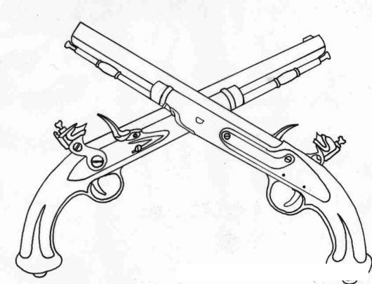 Dibujo De Pistolas Antiguas Para Pintar Y Colorear