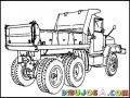 Camion De Volteo De Tres Ejes Para Pintar Y Colorear Camion De Palangana