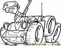 Soldado En Carro Militar Para Pintar Y Colorear