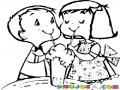 Dibujos De Ninos Compartiendo Una Malteada Para Pintar Y Colorear La Accion De Compartir Un Milkshake O Batido De Vainilla