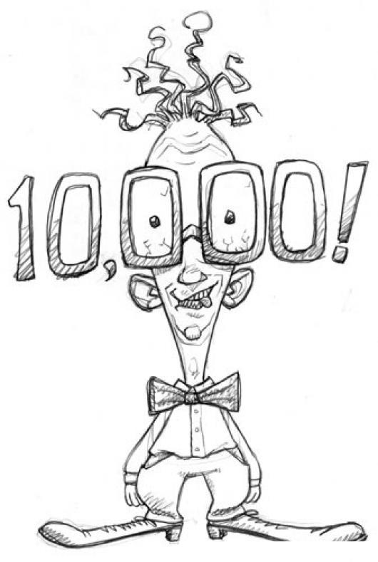 10mil Dolares Dibujo De Empleado Asombrado Por Sueldo De 10000 ...