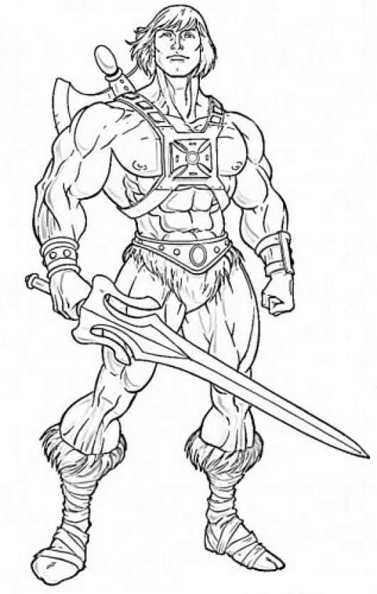 He man printable coloring pages