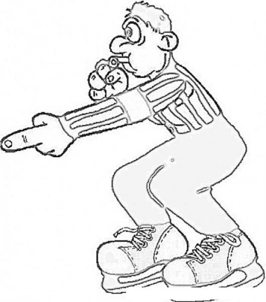 Arbitro De Hockey Sobre Hielo Para Pintar Y Colorear | COLOREAR ...