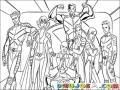 Dibujo De Los Xmen Para Pintar Y Colorear