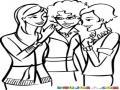 Chismes De Mujeres Para Pintar Y Colorear Chicas Chismosas