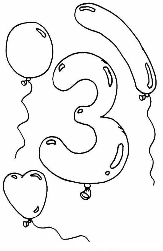 Colorear El Numero 3 Tres Colorear Numeros Dibujo Para Colorear