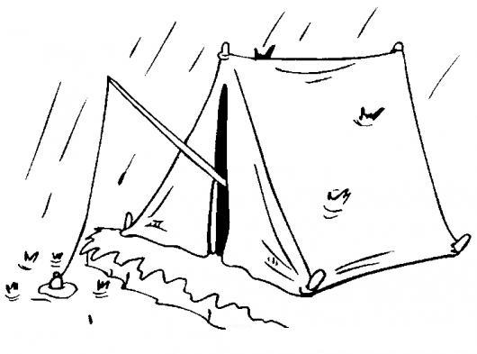 Dibujo De Una Persona Pescando Desde Una Carpa Para Pintar Y