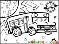 Partybus Coloring Page Dibujo De Party Bus Para Pintar Y Colorear Busito De Fiesta En La Noche