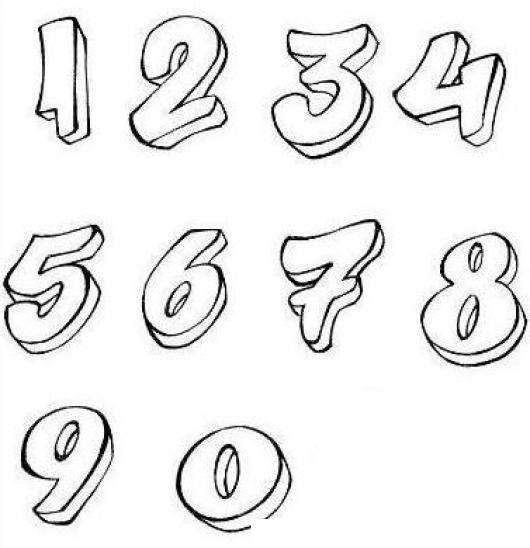 Colorear Los Numeros 1234567890 Colorear Numeros Dibujo Para