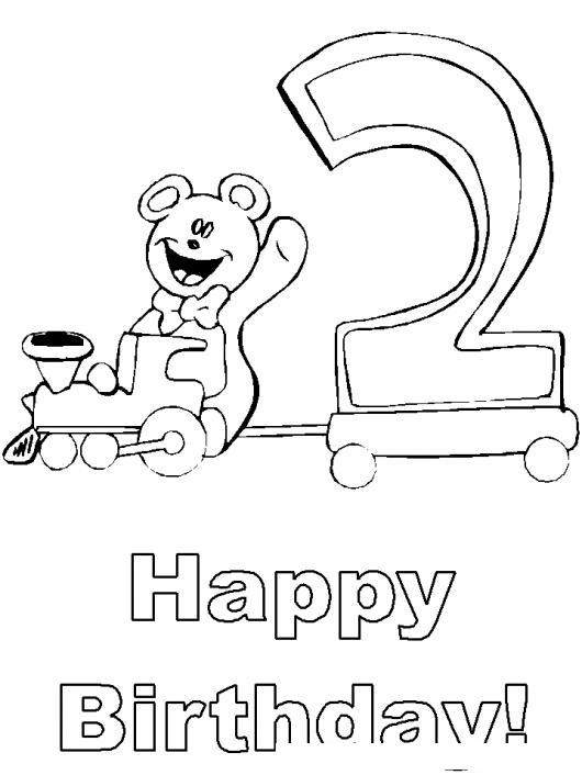Dibujo De Tarjeta De Feliz Cumpleanos Para Bebe De Dos Anos Para ...
