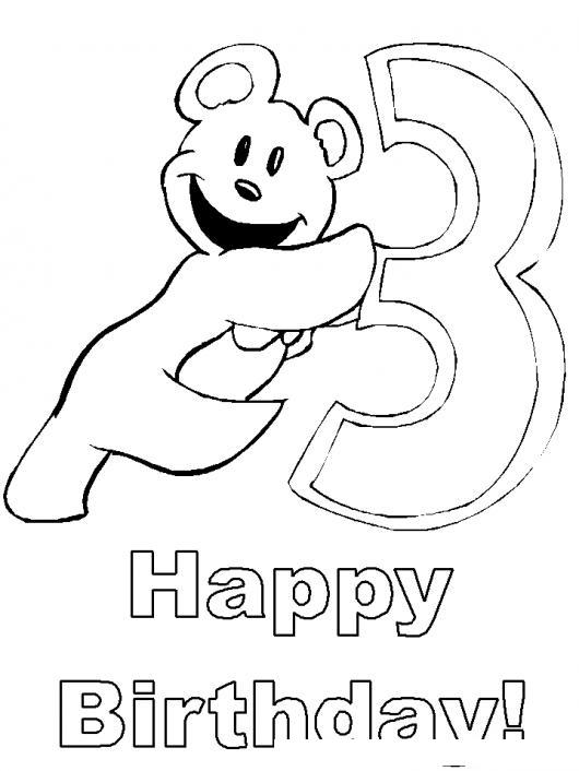 Dibujo De Tarjeta De Feliz Cumpleanos Para Bebe De 3 Anos Para ...