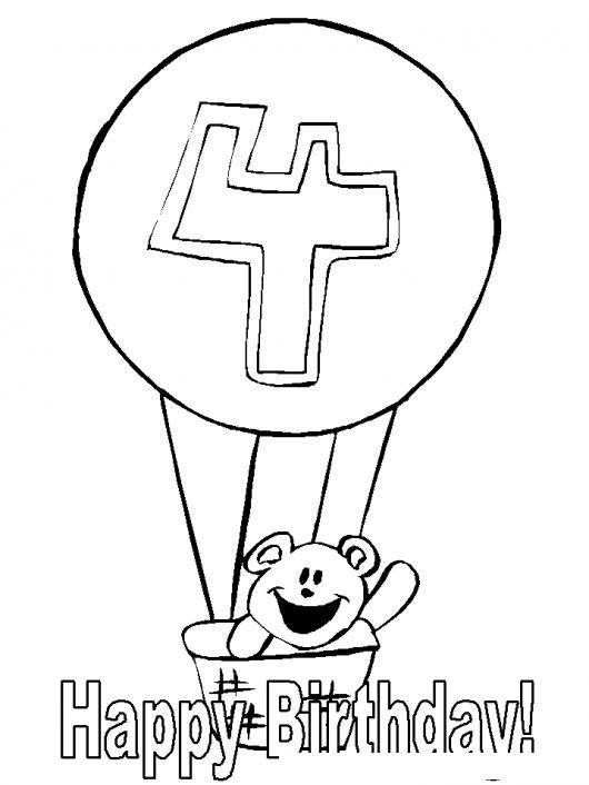 Dibujo De Tarjeta De Feliz Cumpleanos Para Bebe De 4 Anos