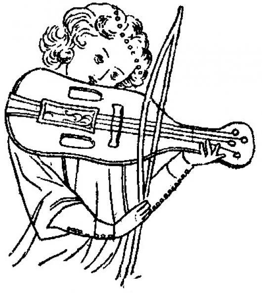 Dibujo De Nina Tocando El Violin Para Pintar Y Colorear ...