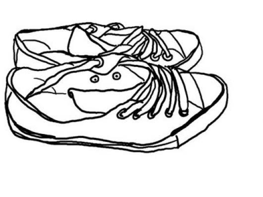 Dibujo De Zapatos Viejos Para Pintar Y Colorear