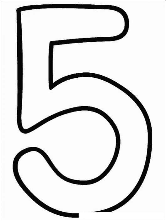 Colorear El Cinco Colorear Numeros Dibujo Para Pintar Y