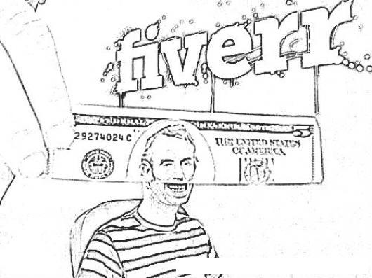 Fiverr.com Dibujo De 5 Dolares Ganados En Fiverr Para Pintar Y ...