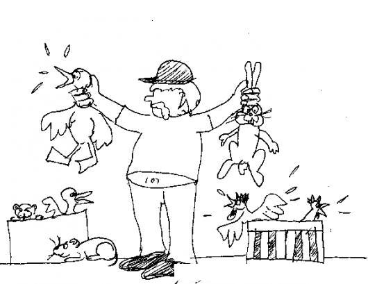 Vendedor De Animales Para Pintar Y Colorear Hombre Vendiendo Un Pato ...