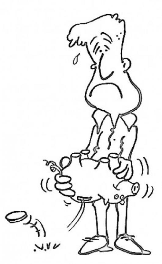 Dibujo De Hombre Sin Ahorros Para Pintar Y Colorear Senor Sin