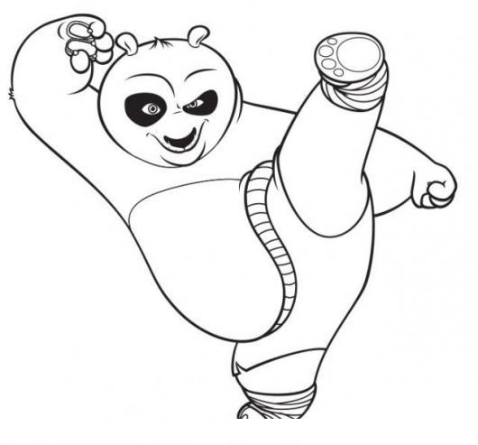 Lujo Kung Fu Panda Para Colorear Imagen - Dibujos de Animales para ...