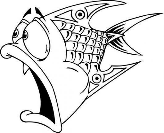 Grappige Paarden Kleurplaaten Dibujo De Pez Asustado Para Pintar Y Colorear Pescado