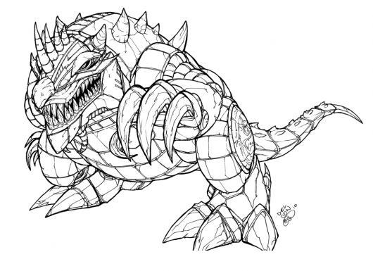 Dragon3d Dibujo De Dragon Robot Para Pintar Y Colorear Dragon 3d
