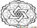 Mandalas Para Colorear Estrella De David De 6 Picos