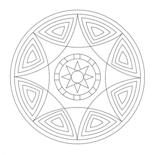 Mandalas Para Colorear Estrellas De 8 Picos Colorear Mandalas Para