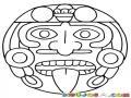 Mandalas Para Colorear Estela Maya Geroglifico Y Cara De Los Mayas Y Aztecas