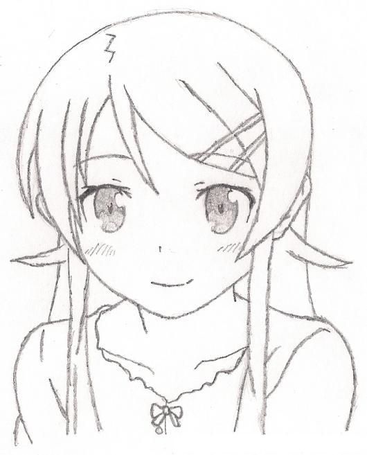 Dibujo De Nina Manga Con Ojos Grandes Y Expresivos Para