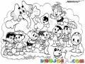 Dibujo De Los Amigos Del Elefante Para Pintar Y Colorear