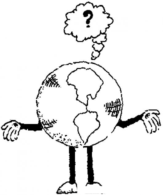El Mundo Esta Confundido Dibujo Del Planeta Tierra Dudando
