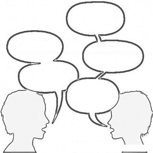 Dibujos De Dos Personas Hablando Imagui