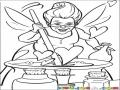Dibujo Del Hada Malvada De Shreck Para Pintar Y Colorear